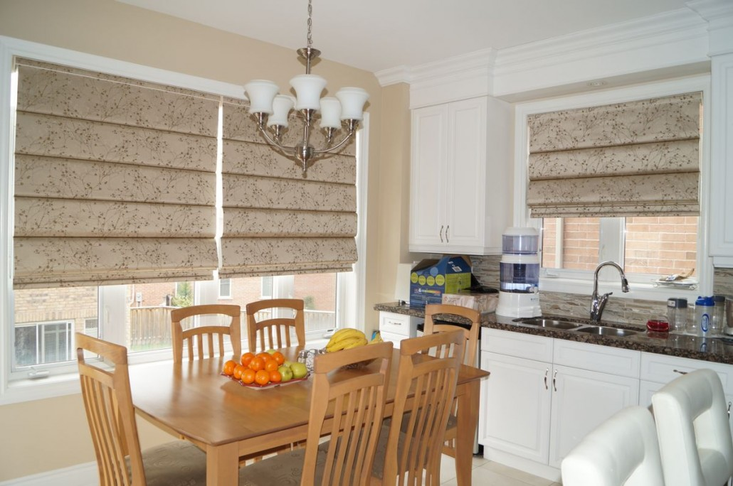 Kitchen window treatments drapes and shades elegant for Best window treatments for kitchen