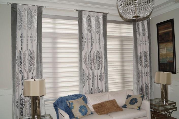 Living Room Window Coverings Custom Drapes