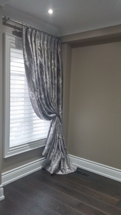 Silhouette and french pleat panel
