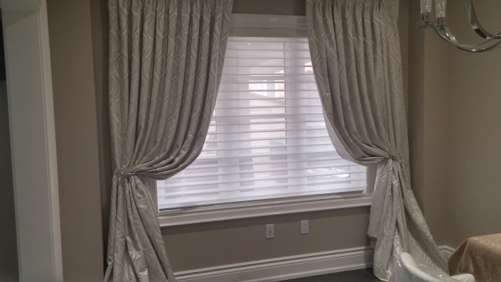 Curtains with silhouette shades