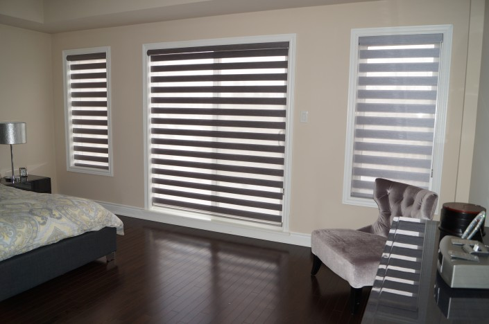 Dual shades for the bedroom